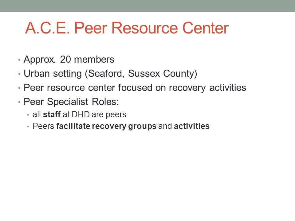 A.C.E.Peer Resource Center Approx.