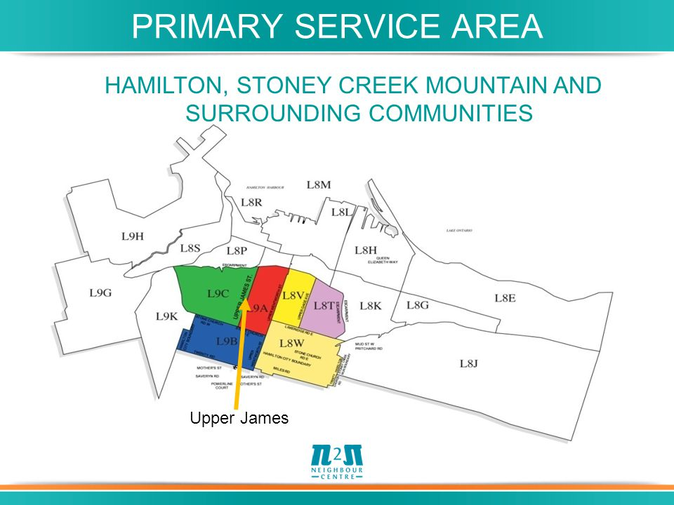 Upper James HAMILTON, STONEY CREEK MOUNTAIN AND SURROUNDING COMMUNITIES PRIMARY SERVICE AREA