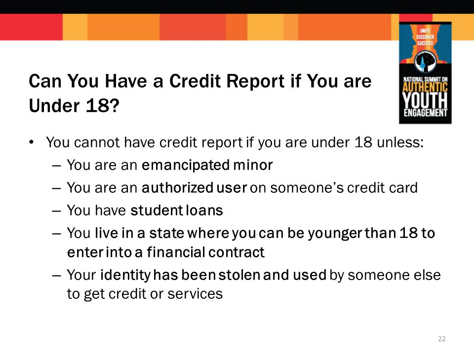 Can You Have a Credit Report if You are Under 18.
