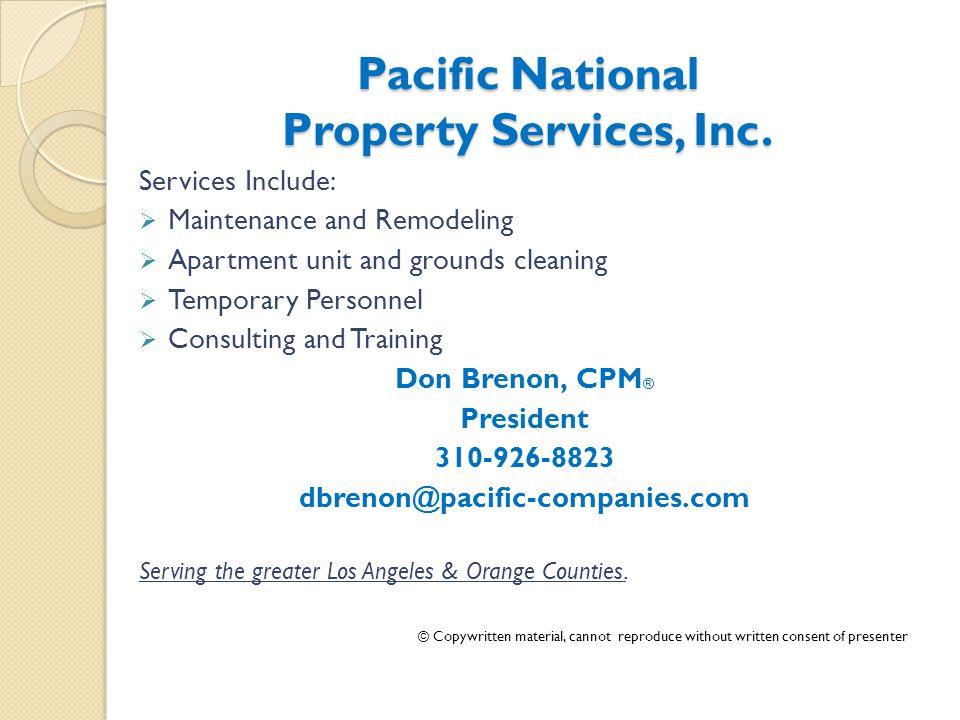 Pacific National Property Services, Inc.