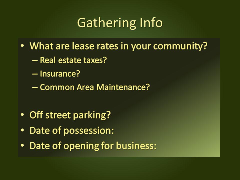 Gathering Info