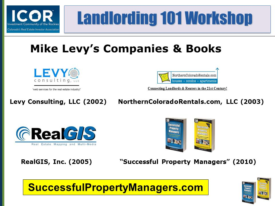 Landlording 101 Workshop Landlording 101 Workshop 14.Which of the following are OK to ask potential tenants, and WHY.