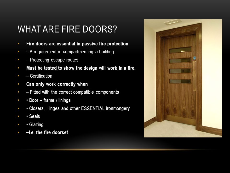 WHAT ARE FIRE DOORS.