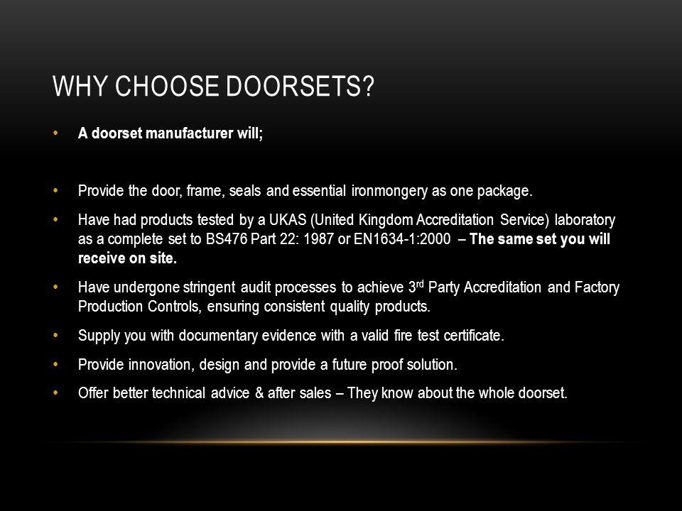 WHY CHOOSE DOORSETS.