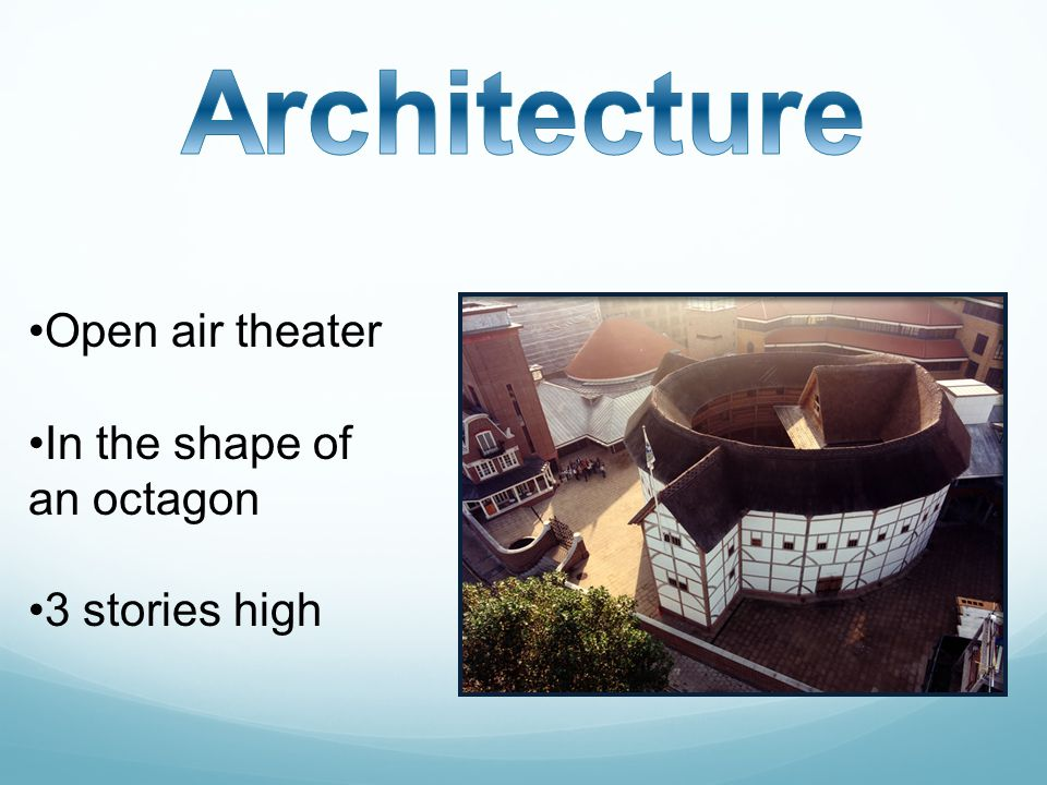 Open air theater In the shape of an octagon 3 stories high