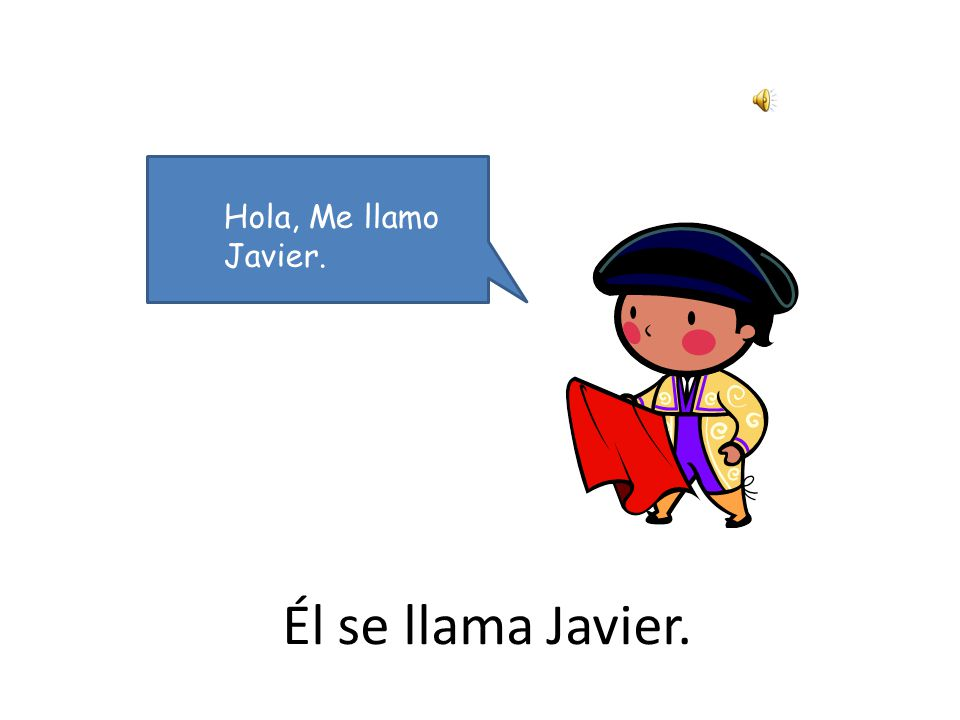 ¿Qué tal Javier.In this activity, pupils meet the character Javier.