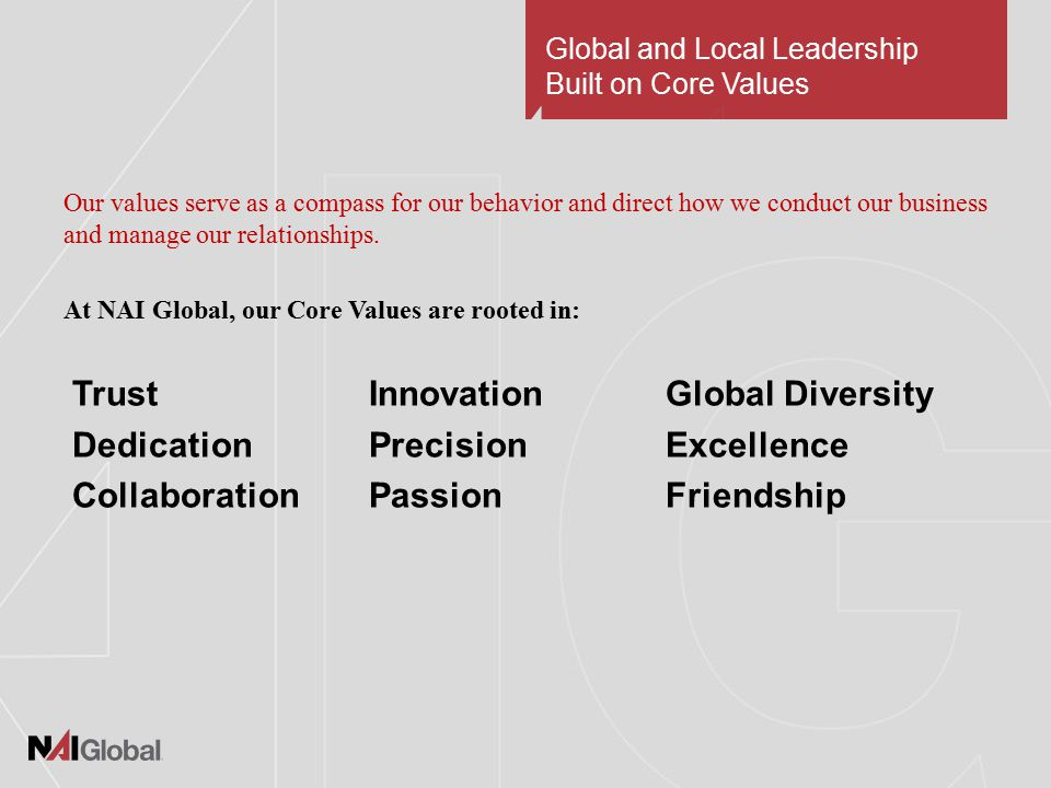 Why Join NAI Global.For a World of Growth Opportunities  You will increase your profitability.