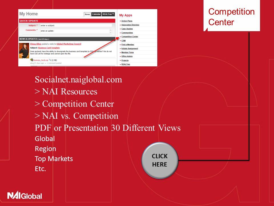 Competition Center Socialnet.naiglobal.com > NAI Resources > Competition Center > NAI vs.