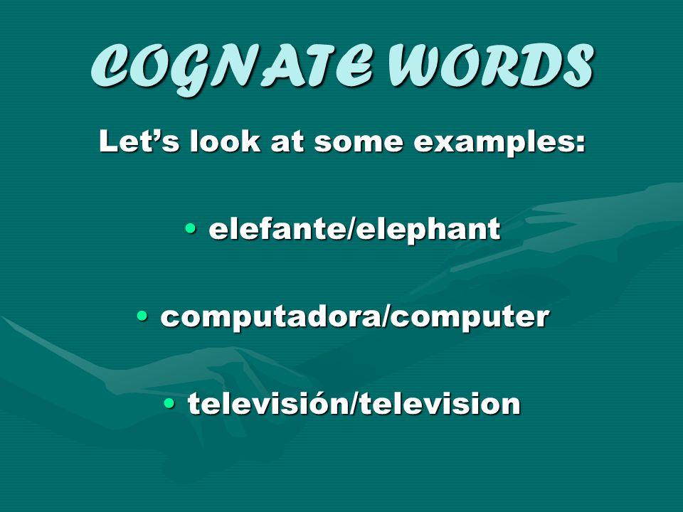 COGNATE WORDS