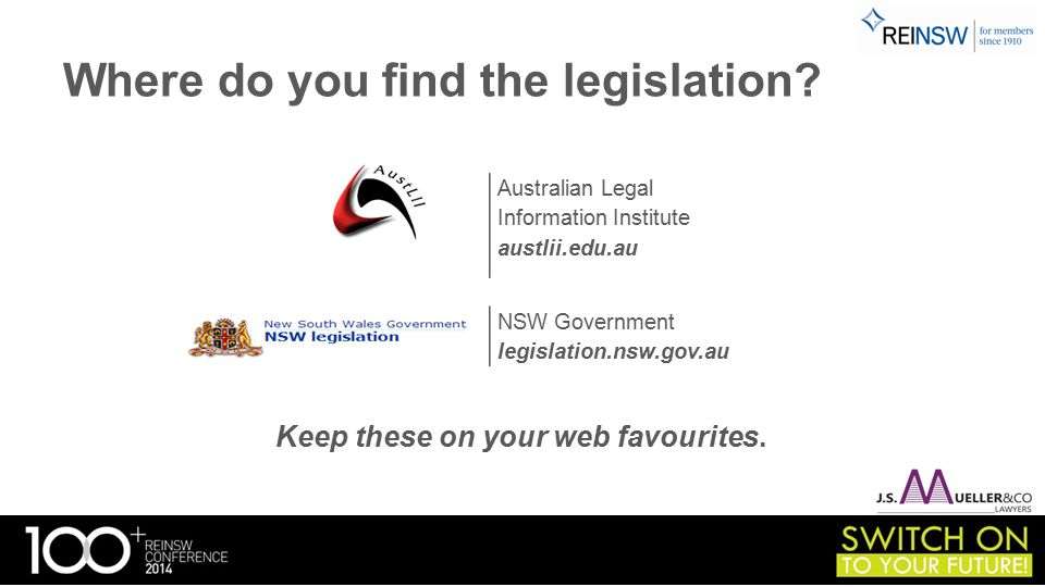 Where do you find the legislation. Keep these on your web favourites.