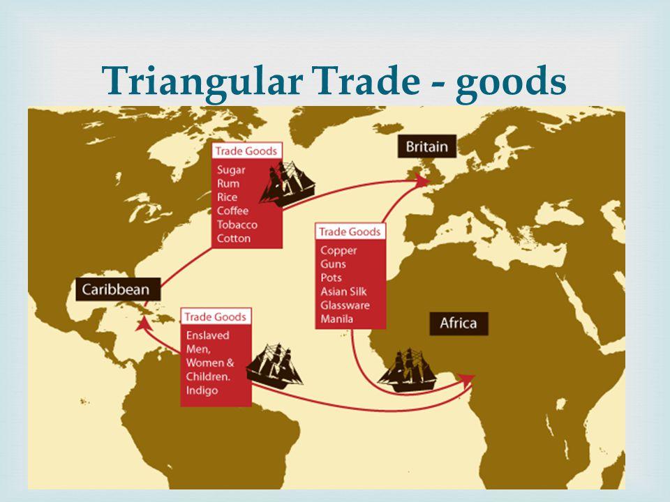  Triangular Trade - goods