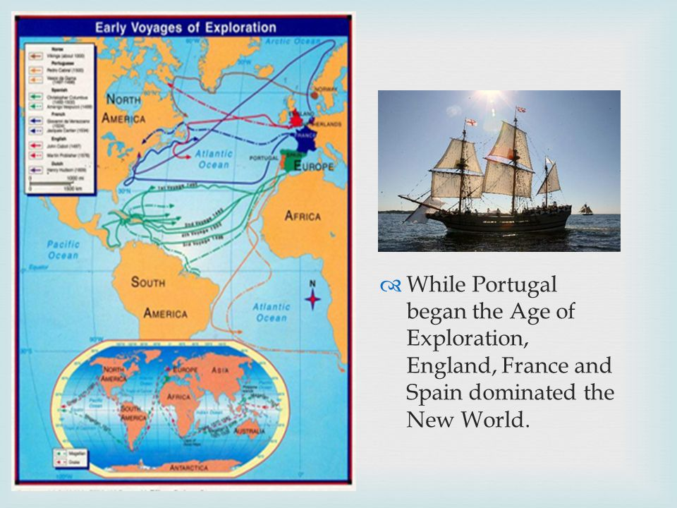  While Portugal began the Age of Exploration, England, France and Spain dominated the New World.