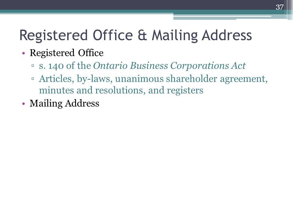 Registered Office & Mailing Address Registered Office ▫s.