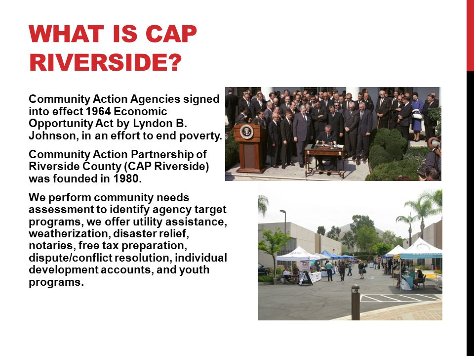 WHAT IS CAP RIVERSIDE.