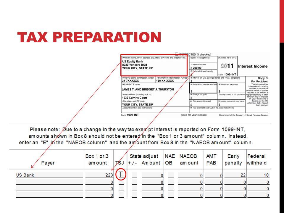 TAX PREPARATION T