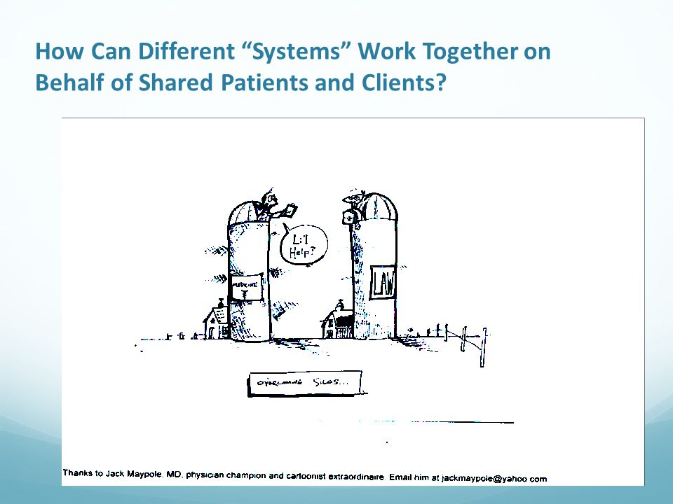 How Can Different Systems Work Together on Behalf of Shared Patients and Clients