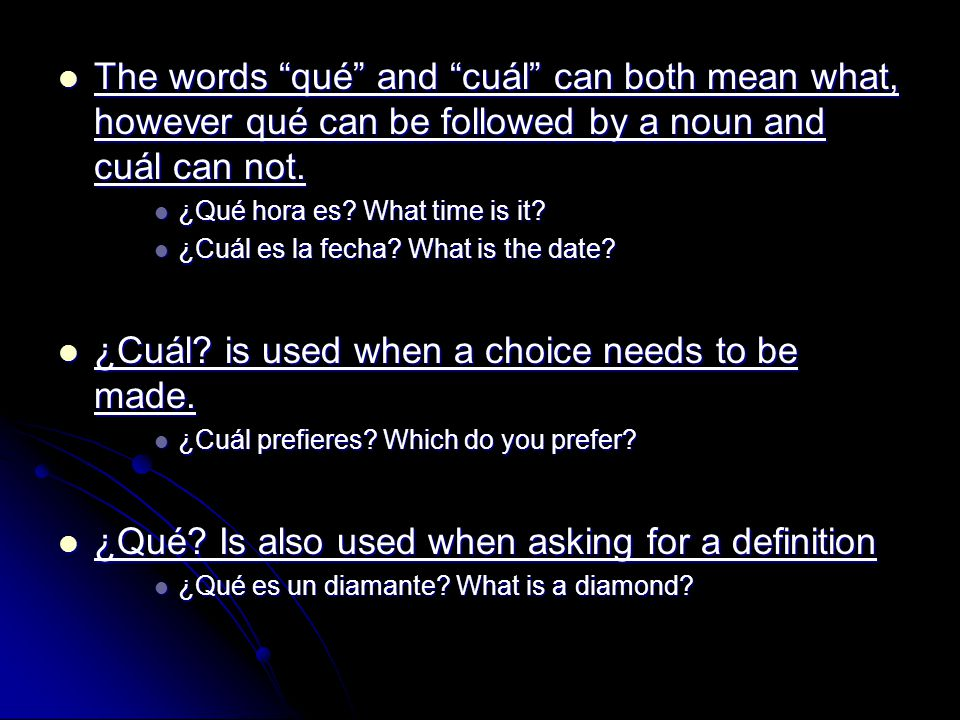 The words qué and cuál can both mean what, however qué can be followed by a noun and cuál can not.