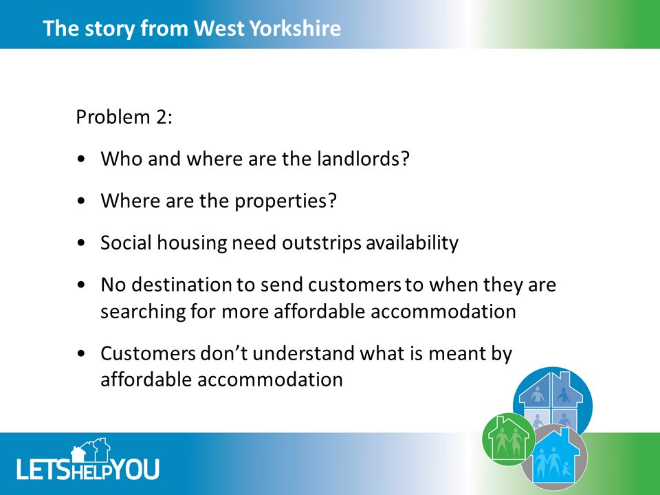 The story from West Yorkshire Problem 2: Who and where are the landlords.