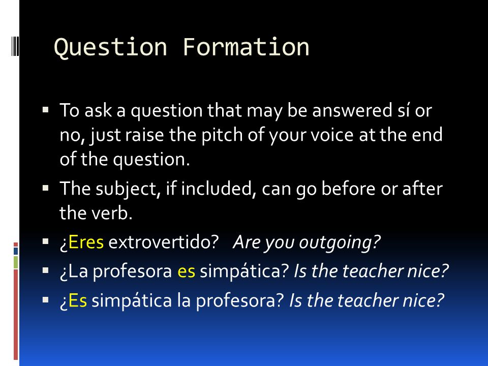 When speaking, how can one make ¿Eres activo.sound different from Eres activo..