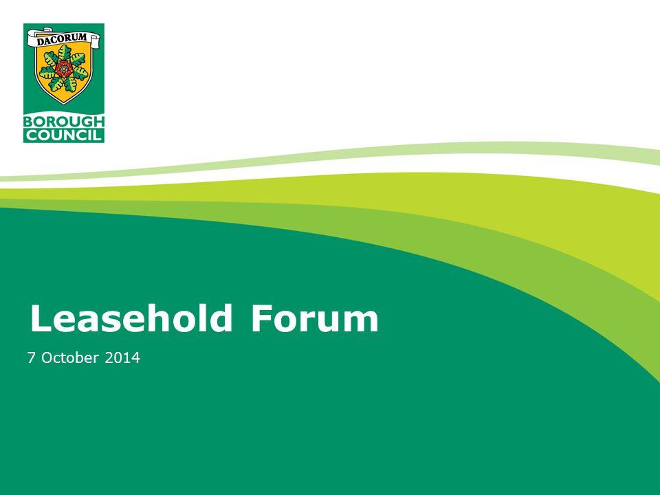 Leasehold Forum 7 October 2014
