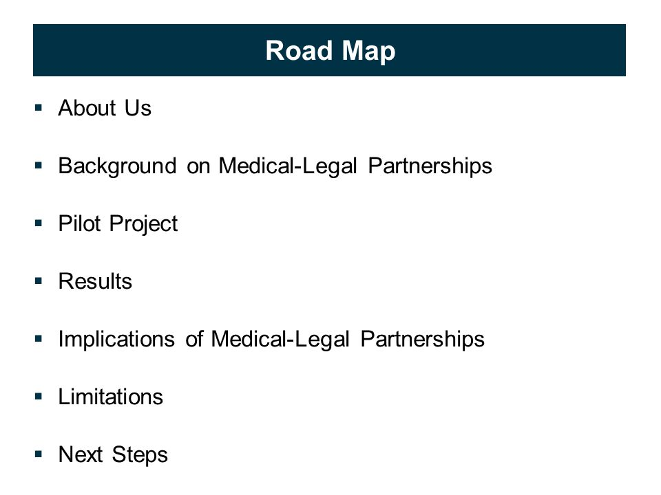 © 2009 APS Healthcare, Inc. 2 Road Map  About Us  Background on Medical-Legal Partnerships  Pilot Project  Results  Implications of Medical-Legal