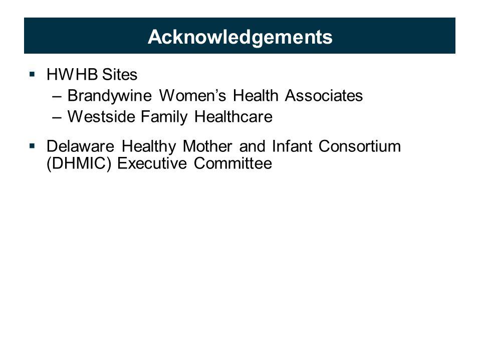 © 2009 APS Healthcare, Inc. 23 Acknowledgements  HWHB Sites –Brandywine Women's Health Associates –Westside Family Healthcare  Delaware Healthy Moth