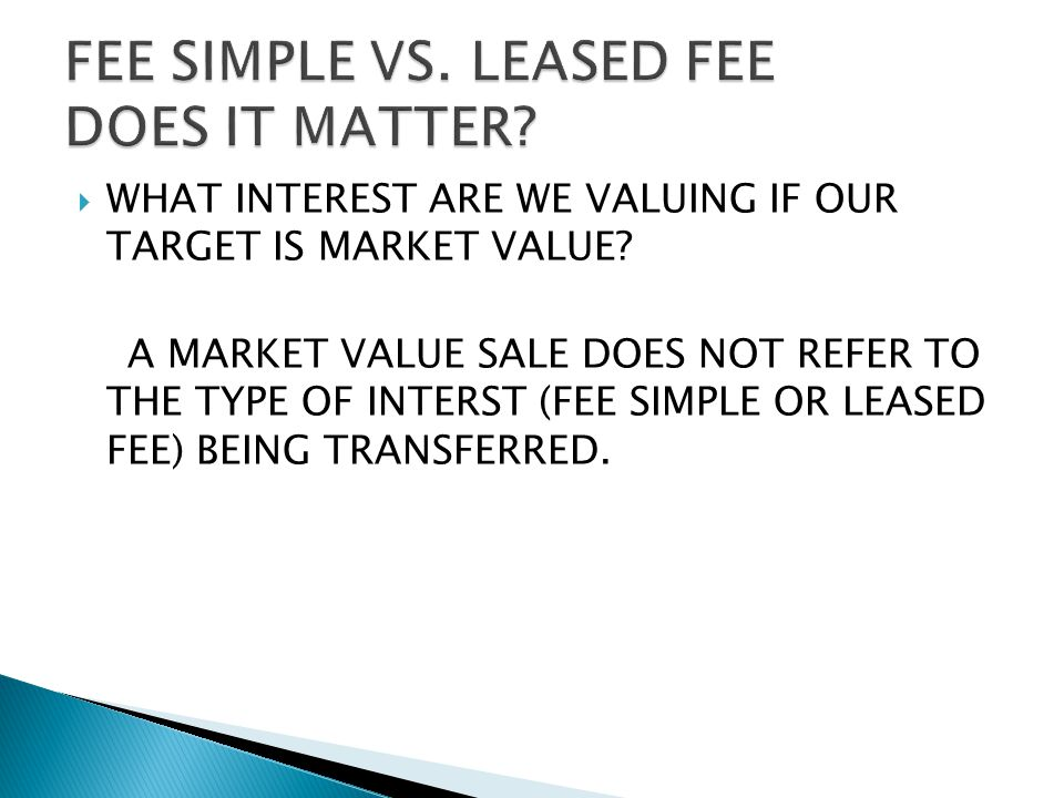  WHAT INTEREST ARE WE VALUING IF OUR TARGET IS MARKET VALUE.