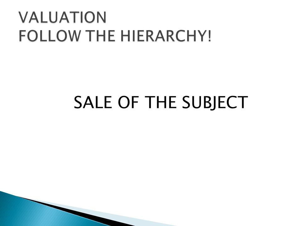SALE OF THE SUBJECT
