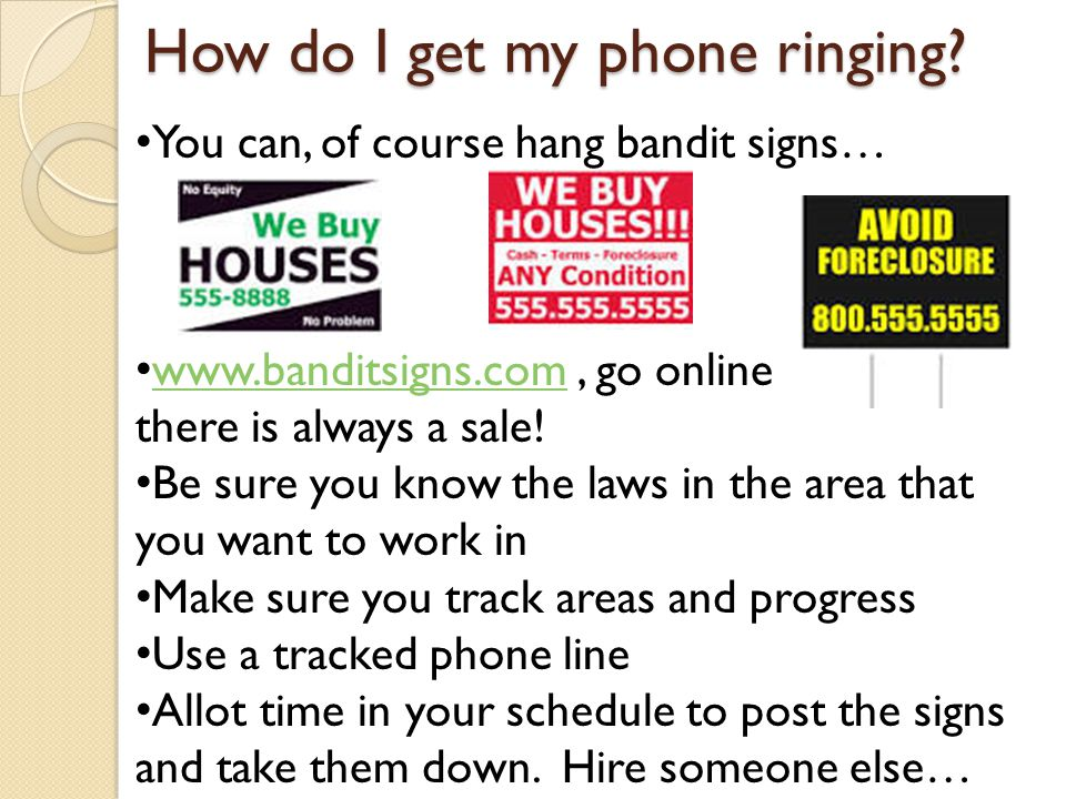 How do I get my phone ringing.