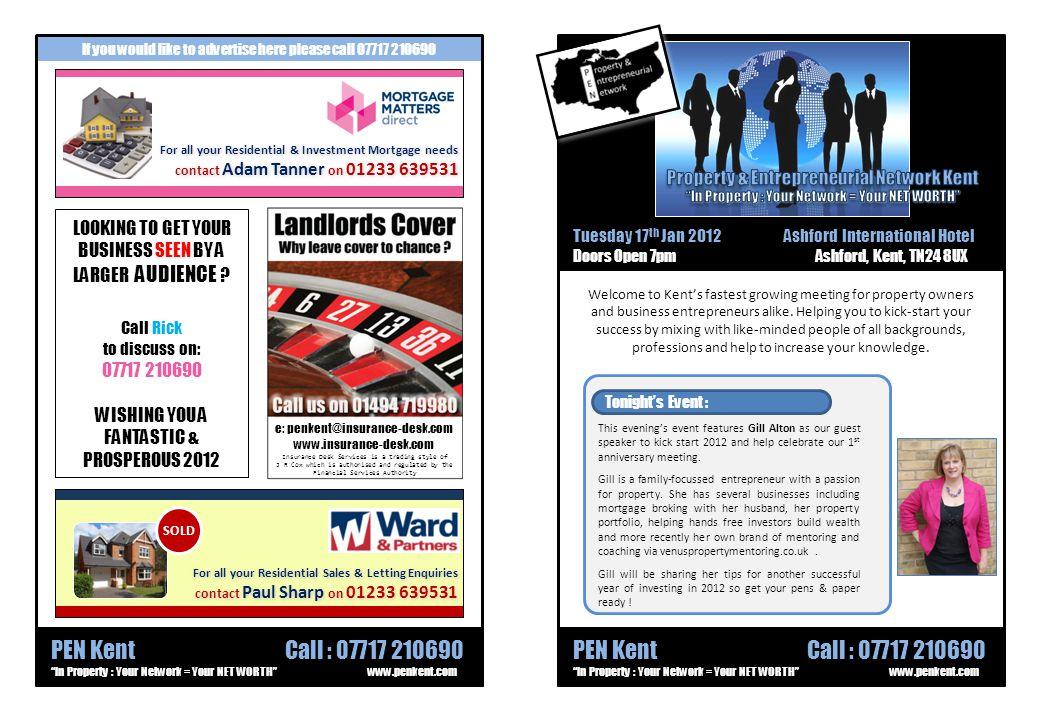 Property & Entrepreneurial Network Kent Useful Information...