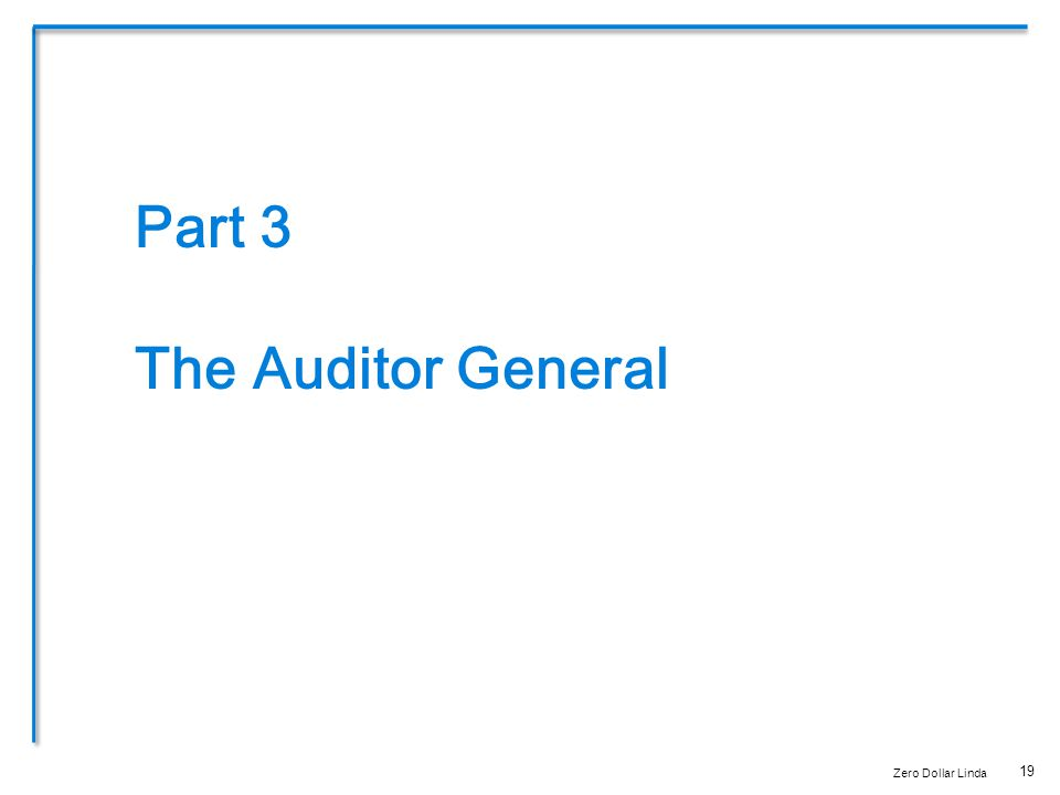 19 Part 3 The Auditor General