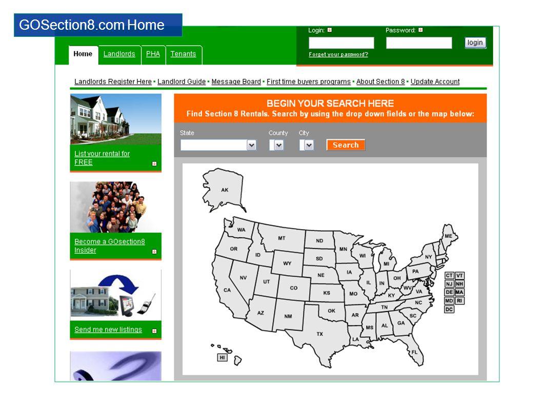 GOSection8.com Home