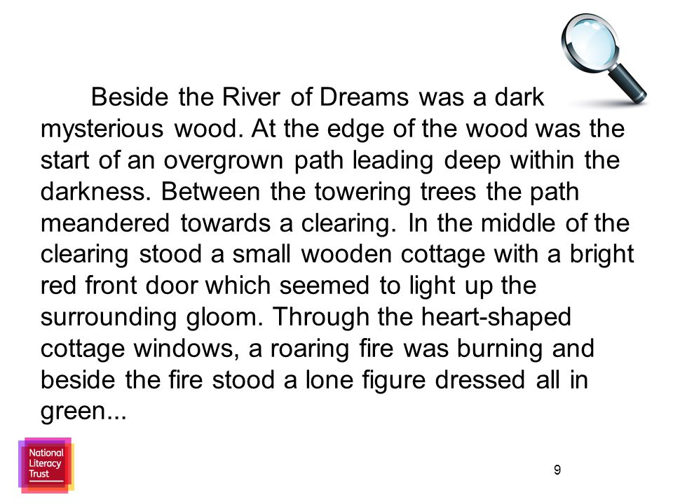 9 Beside the River of Dreams was a dark mysterious wood.