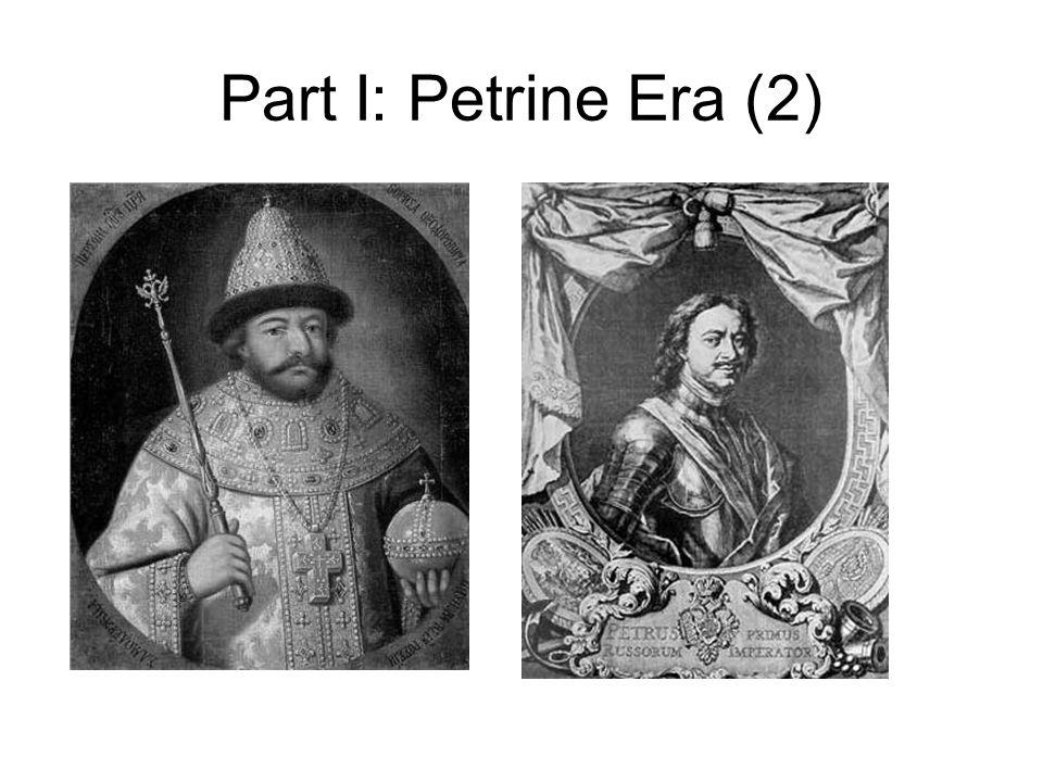 Part I: Petrine Era (2)