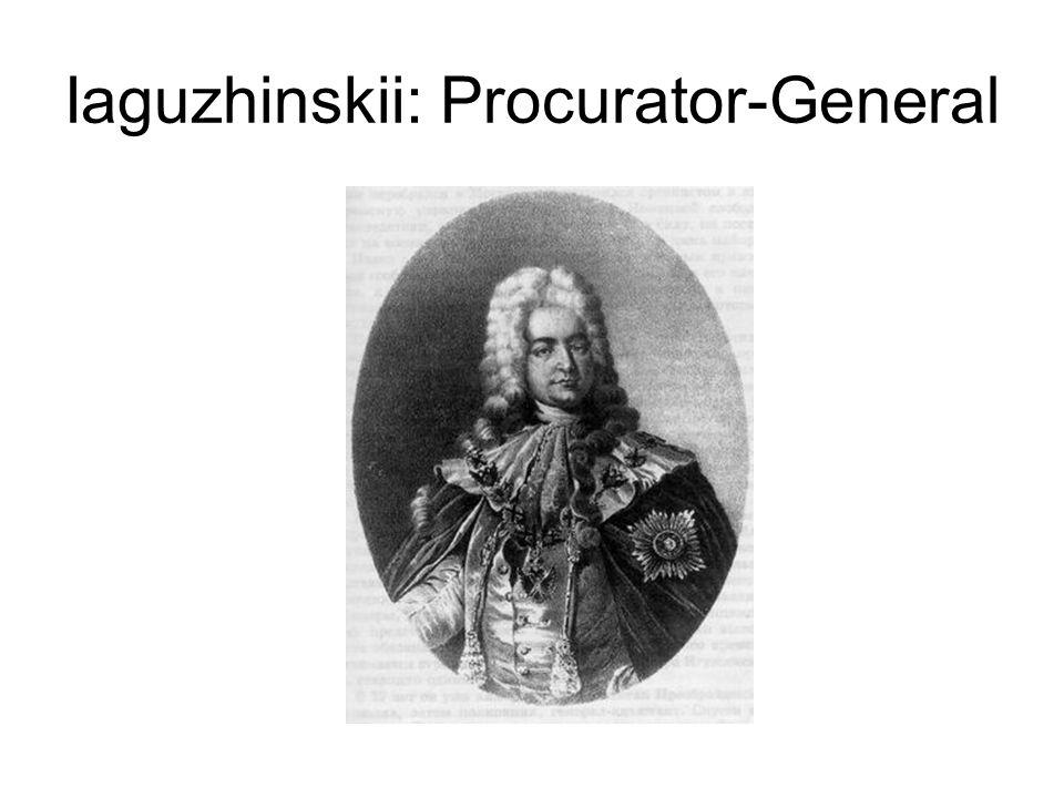 Iaguzhinskii: Procurator-General