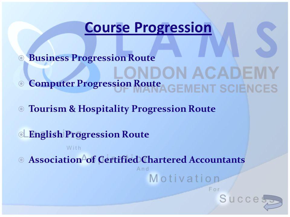 Course Progression  Business Progression Route  Computer Progression Route  Tourism & Hospitality Progression Route  English Progression Route  A