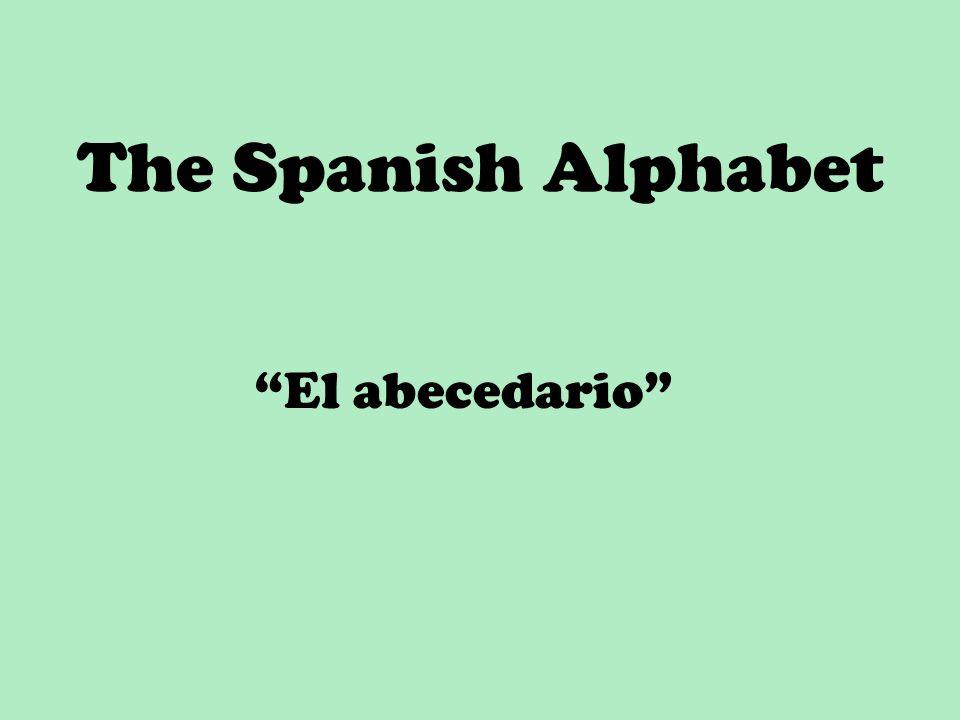 """The Spanish Alphabet """"El abecedario"""""""