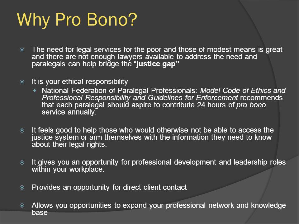 Why Pro Bono.