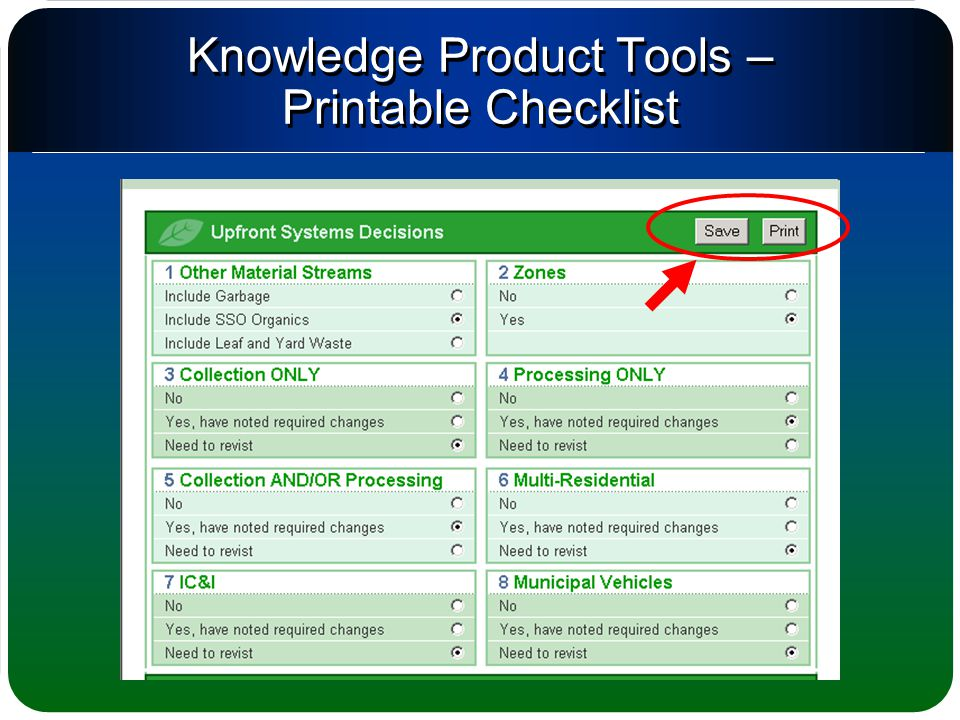 Knowledge Product Tools – Printable Checklist
