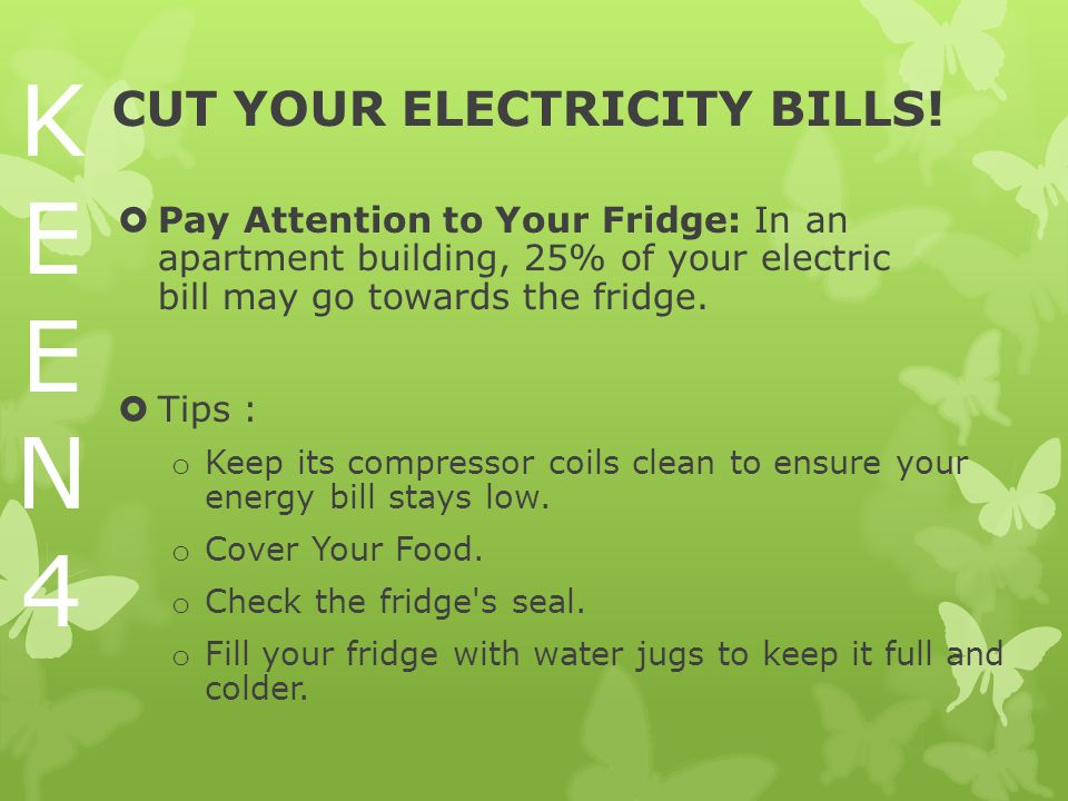 CUT YOUR ELECTRICITY BILLS.
