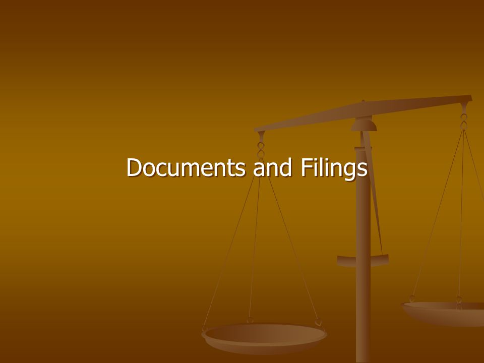 Documents and Filings