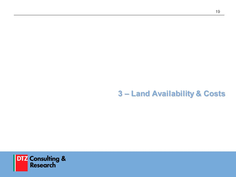 19 3 – Land Availability & Costs