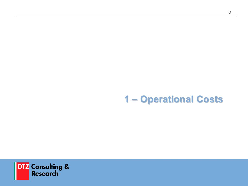 3 1 – Operational Costs