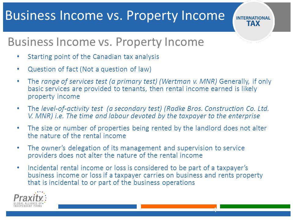 Business Income vs.