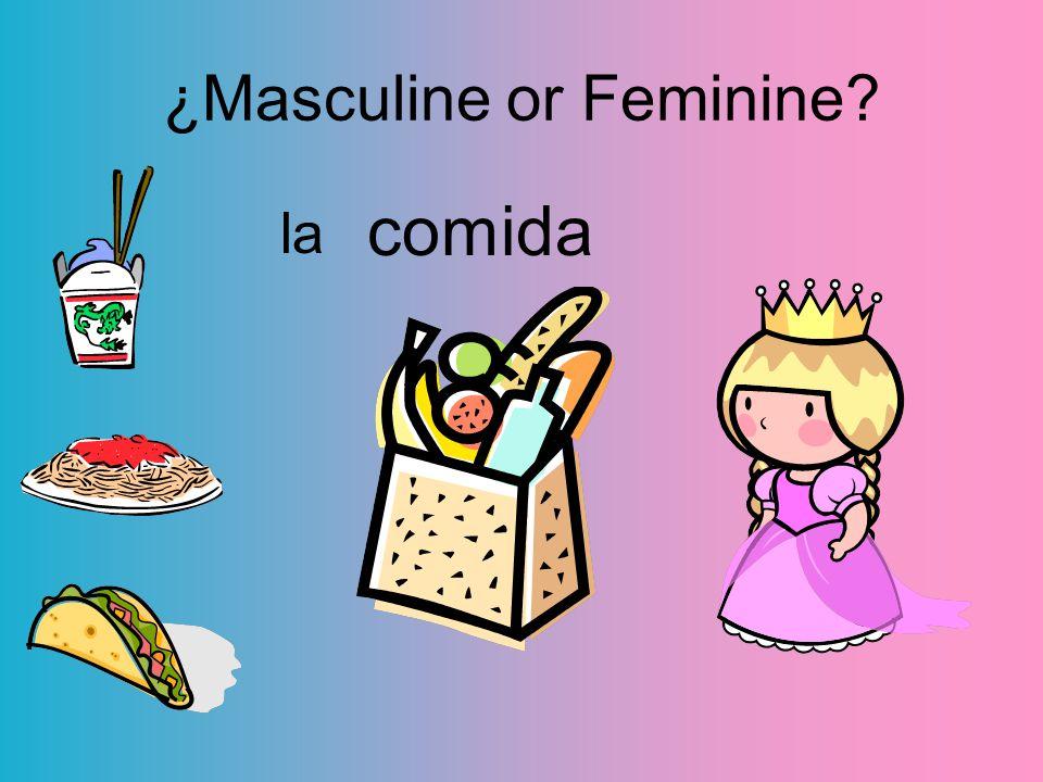 comida la ¿Masculine or Feminine?
