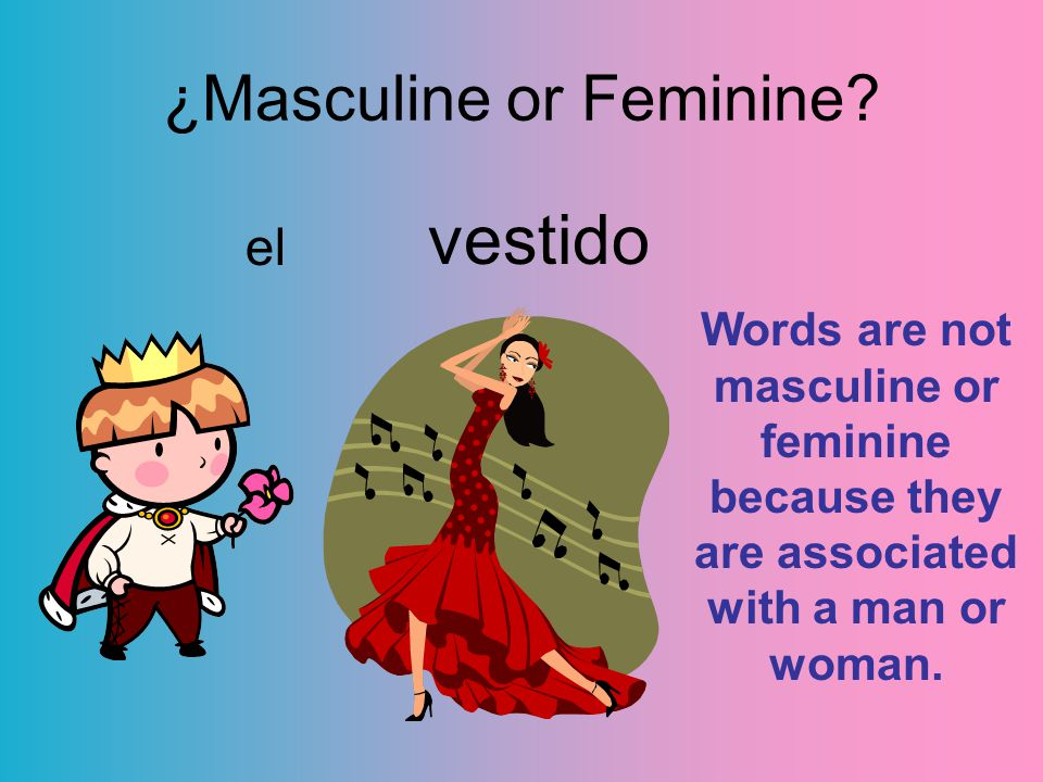 vestido el ¿Masculine or Feminine.
