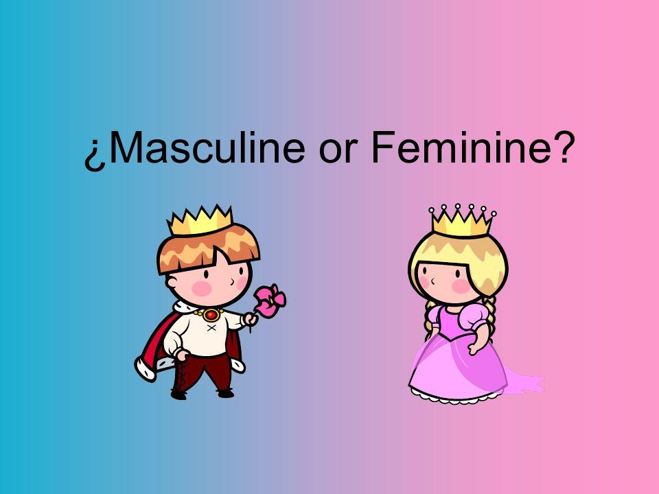 ¿Masculine or Feminine?
