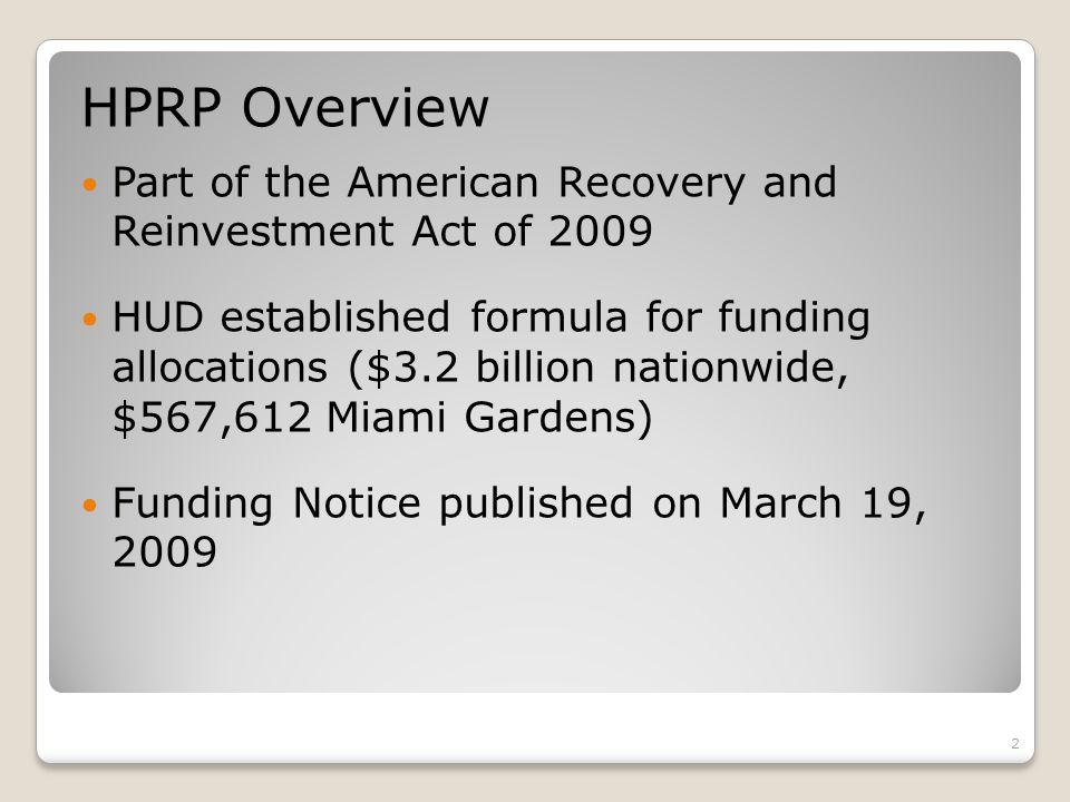 13 Homelessness Prevention and Rapid Re-Housing Program (HPRP)
