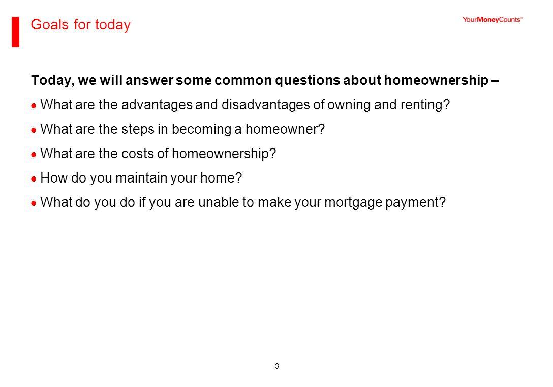 Part I – Steps to homeownership
