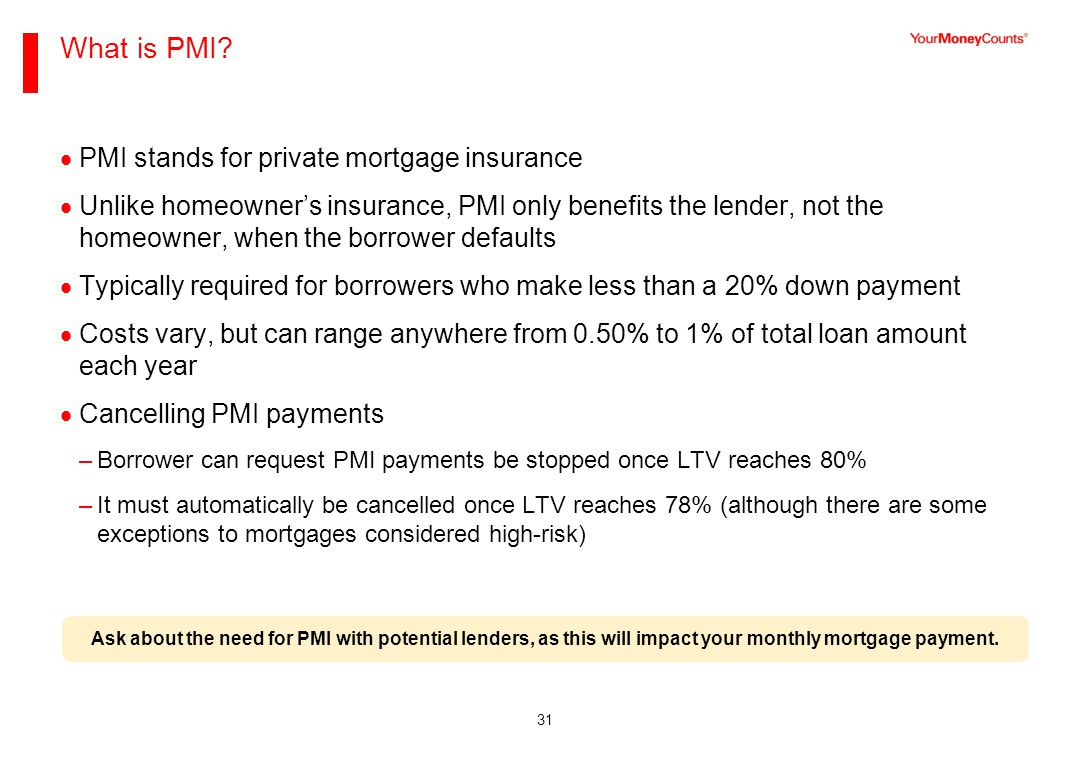 31 What is PMI.